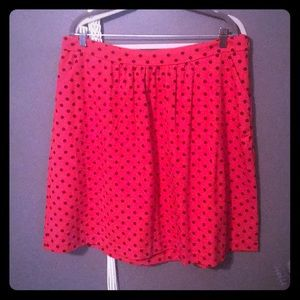 Boden 16L red polka dot skirt!